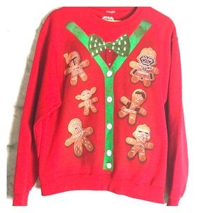 Star Wars Ugly Christmas Sweater gingerbread men M